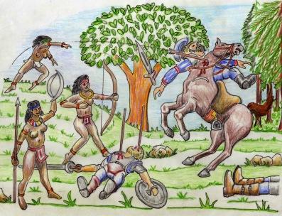 Guerreras Zenues vengan a los invasores