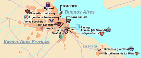 mapa equipos buenos aires
