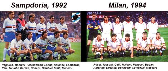 Sampdoria y milan